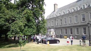 The President of Ireland leaving the Royal Hospital Kilmainham, 14 July 2013