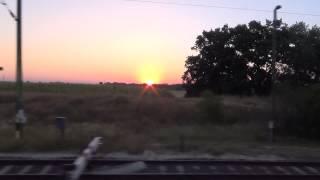 ハンガリーの平原から出ずる朝日