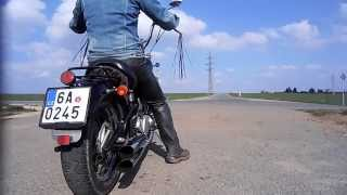 Yamaha Virago 125 straight exhaust sound