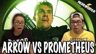 ARROW VS PROMETHEUS Season 5 Episode 16 REACTION & REVIEW Checkmate