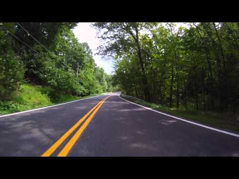 Mohonk House to High Falls NY New York by motorcycle