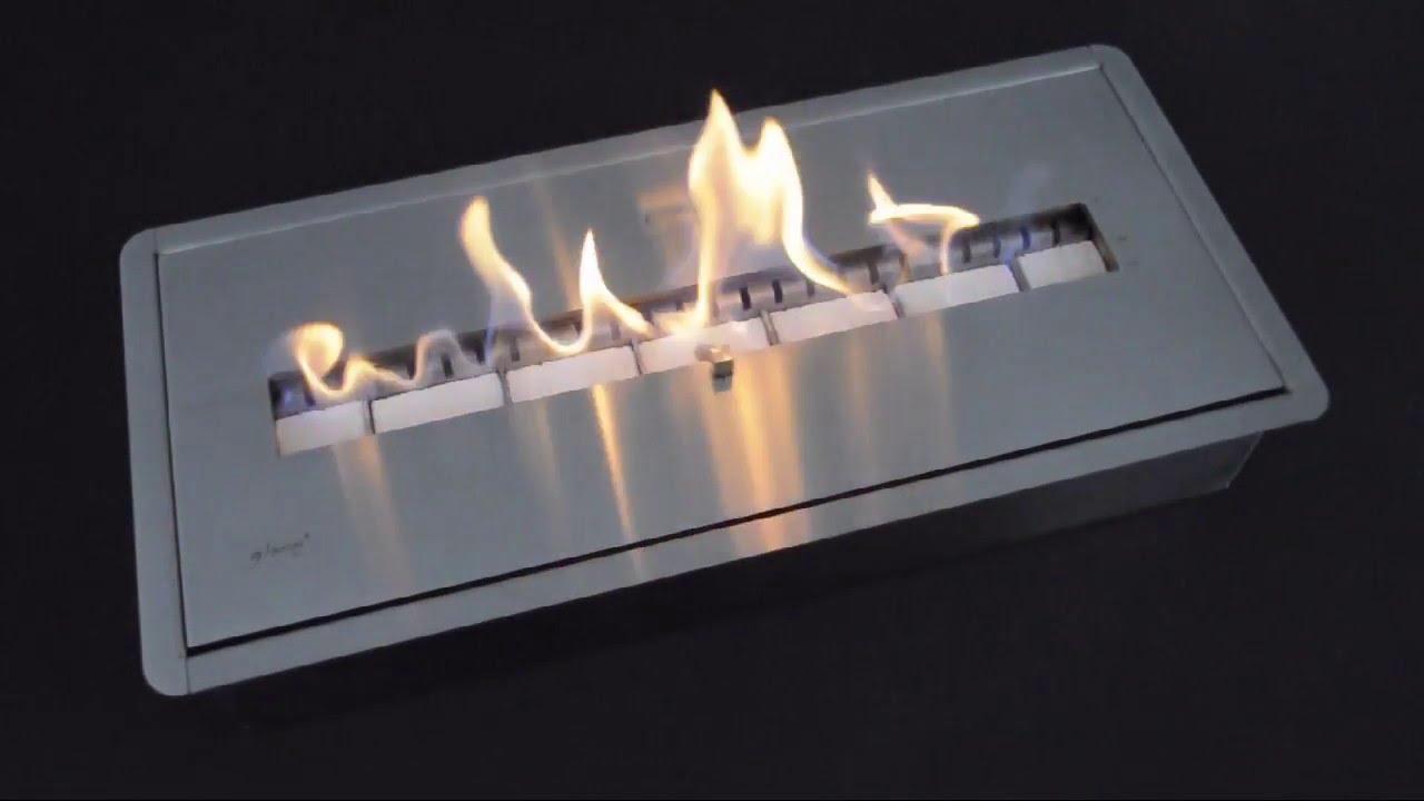 glammfire ceramic bioethanol burner youtube