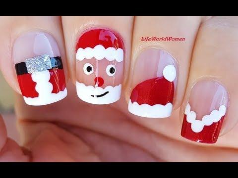 4 EASY SANTA NAIL ART DESIGNS / Cute CHRISTMAS NAILS