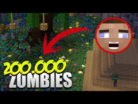 200.000 ZOMBIES VS HUMANO | MINECRAFT MAPA SUPERVIVENCIA ZOMBIE - HARDY