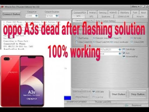 oppo a3s cph1853 dead after flash