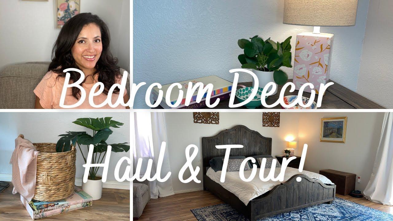 Bedroom Decor Haul & Tour! - YouTube