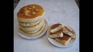 Рецепт хачапури с творогом и зеленью по-сибирски или лепешки на кефире с творогом.