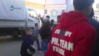 وكالة قاسيون وصول مساعدات طبية إلى حي الوعر المحاصر بمدينة حمص 5-12-2015