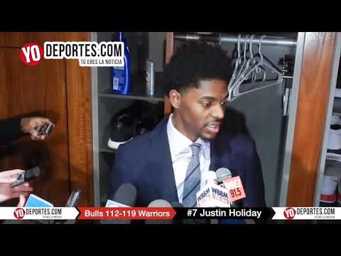 Justin Holiday Chicago Bulls 112-119 Golden State Warriors