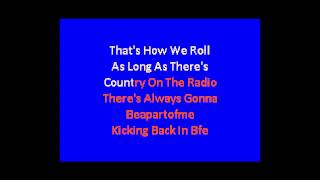 country on the radio karaoke