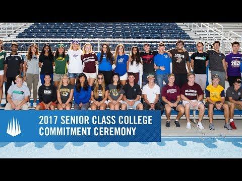 2017 Senior Class College Commitment Ceremony