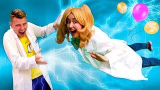 Веселые уроки по физике для блондинки. Учим формулы, молекулы и атомы. Что такое электризация?