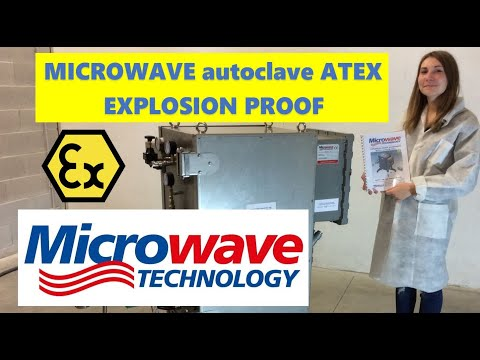 Explosion Proof Microwave Flow Cell - autoclave