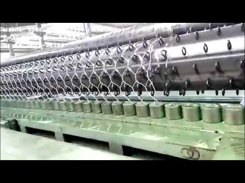 Gabion mesh box machine(Hexagonal wire mesh machine) - YouTube
