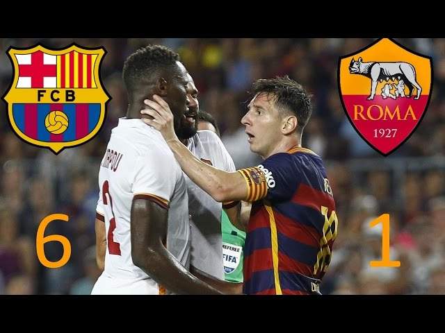 Barcelona  vs Roma 6-1  All Goals 2015-2016 Champions League 25.11.2015