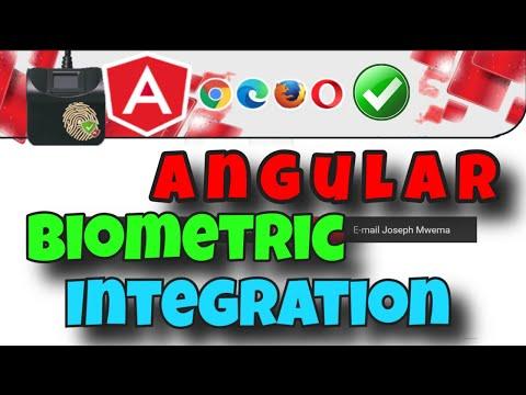 Angular Biometric Registration and Authentication App Demo