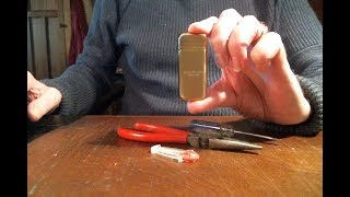DOLPHIN LIGHTER - HOW TO REPLACE THE FLINT