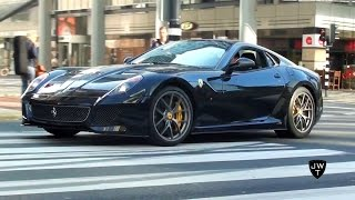 Ferrari 599 GTO & 599 GTB LOUD Exhaust SOUNDS! Epic Accelerations!