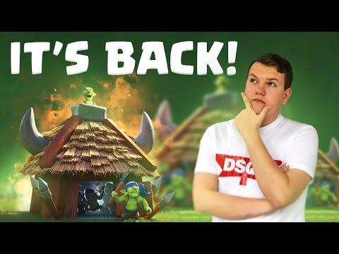 GOB HUT = BACK! 12 Win Graveyard Goblin Hut Control Deck! - Clash Royale