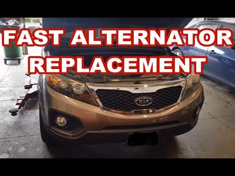 2011 Kia Sorento 2.4L ALTERNATOR REPLACEMENT how to remove replace