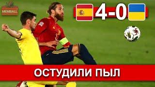 Испания Украина Школьник и Рамос разгромили команду Шевченко Обзор матча