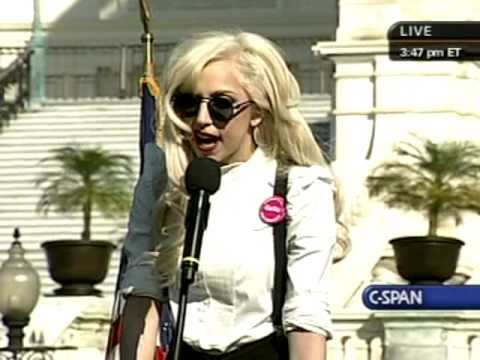 National Equality March Rally: Lady Gaga speaks