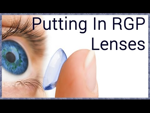 How to Insert Rigid Gas Permeable Contact Lenses