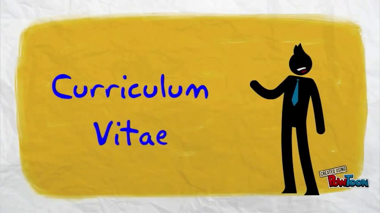 cv vdeo curriculum vitae inglesenglish