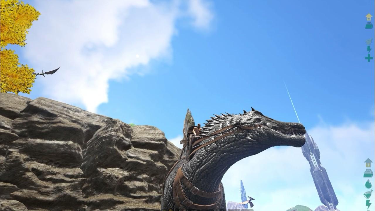 ARK Survival Evolved- Testando spinosaurus casa Ivan - YouTube