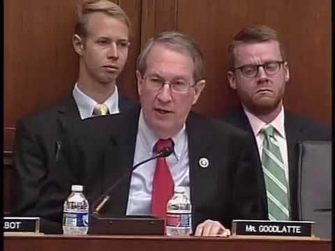 Chairman Goodlatte Questions Witnesses at Hearing on America