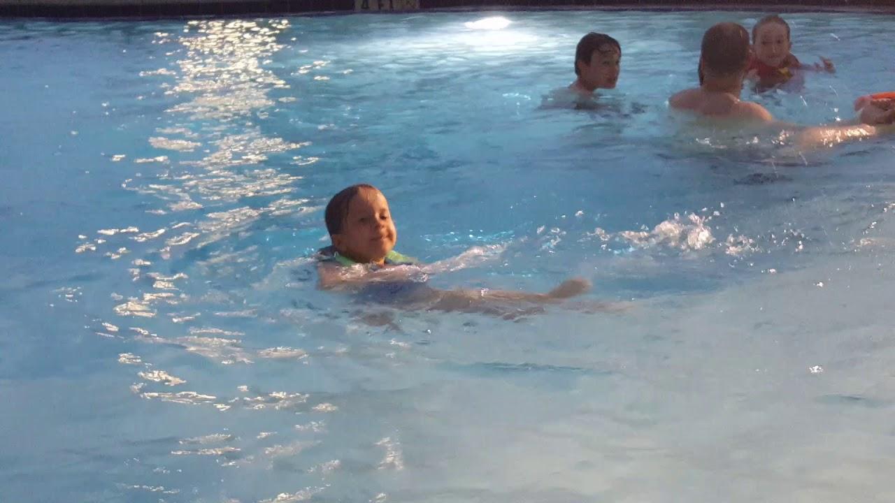 Milana swimming