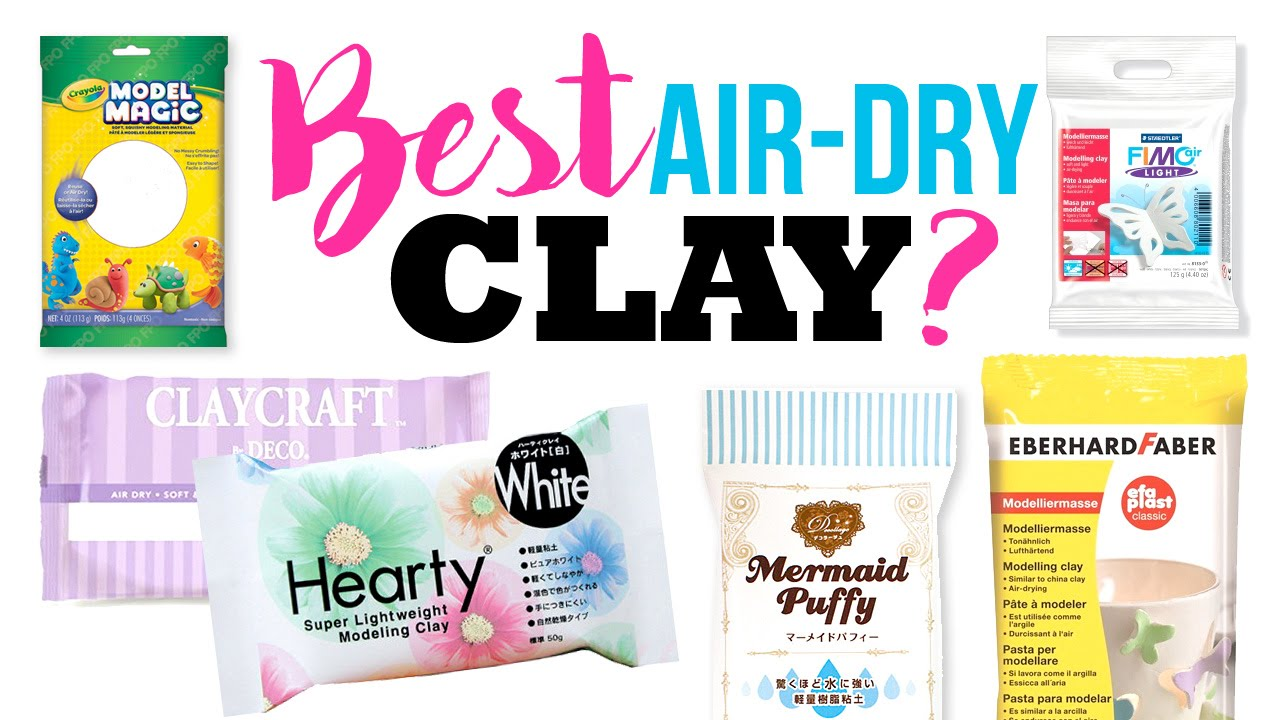 the best and worst air dry clays testing out 6 popular diy clay
