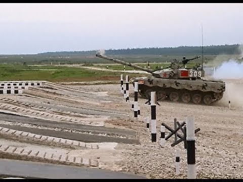 Chinese Team Wins Competition in Tank Biathlon