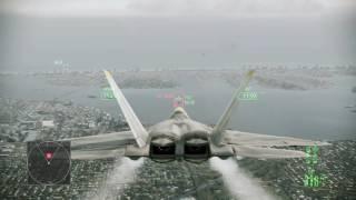 Ace Combat Assault Horizon - Nightmare [Gameplay] F-22 Raptor