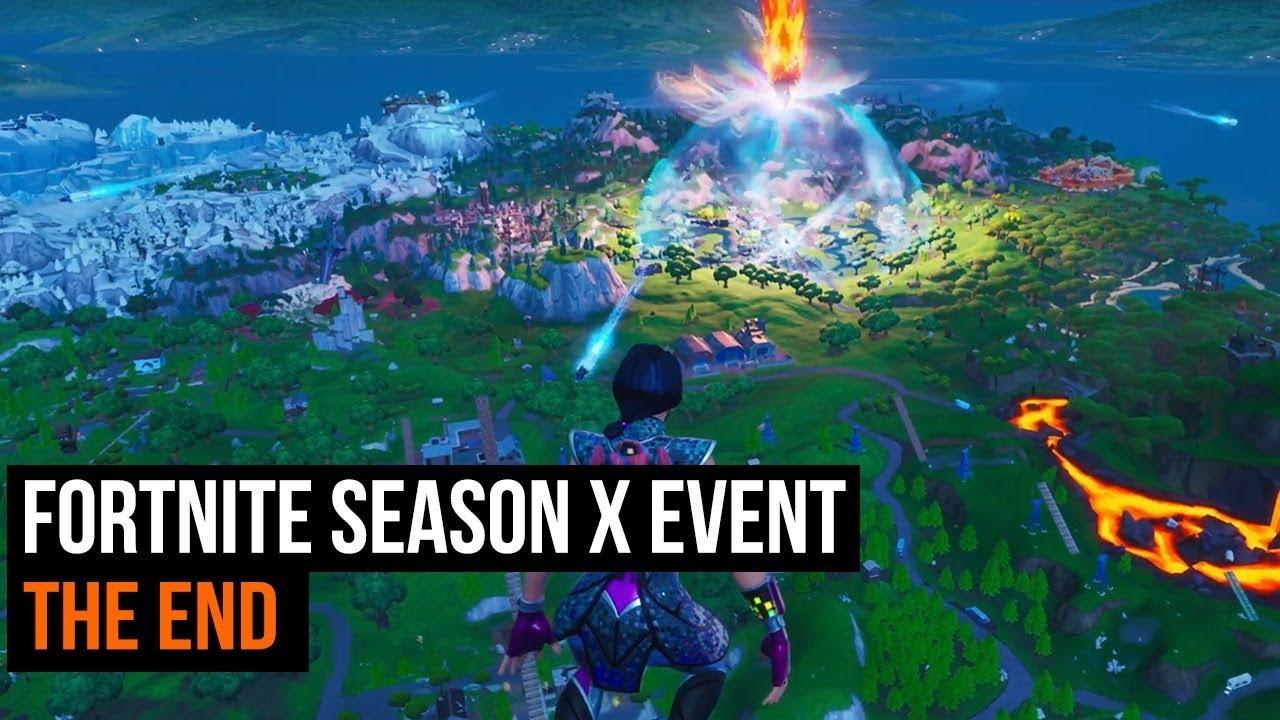 Fortnite Season X event - The End