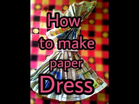 How to make paper dress at home|| Newspaper Dress DIY