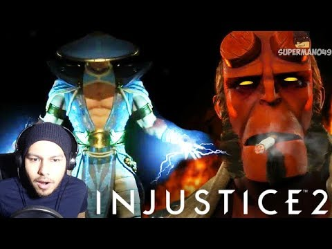 I CAN'T BELIEVE THEY DID IT! - Injustice 2 Fighter Pack 2 REACTION Raiden, HellBoy & Black Manta  