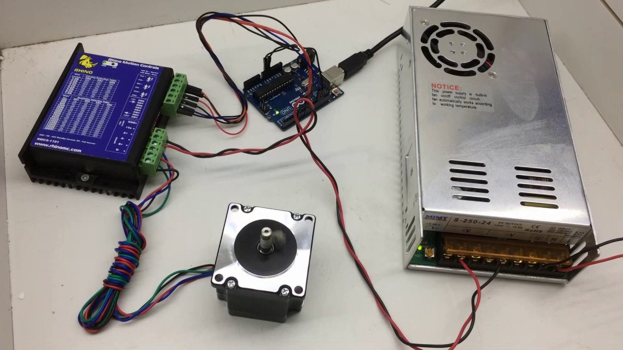 Control Nema Stepper Motor With Arduino and Micro Stepping