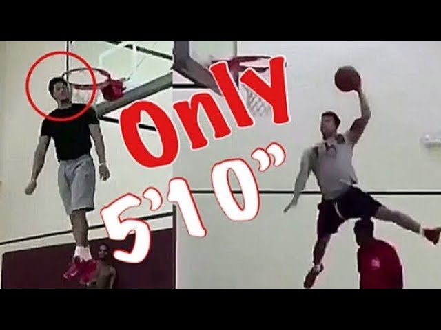 Only 510  hitting his head on the rim
