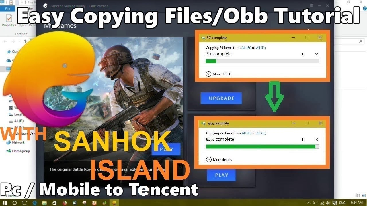 How To Copy Files Obb From Pc Mobile To Tencent Emulator Youtube