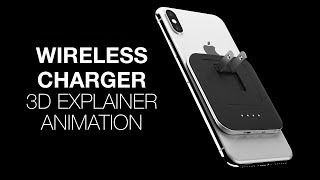 WAFR iPhoneX Wireless Charger 3D Product 360 Animation Explainer
