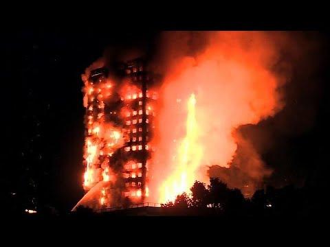 Beelden brand Londen