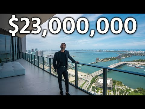 Inside a $23,000,000 Miami Penthouse with Incredible Ocean Views