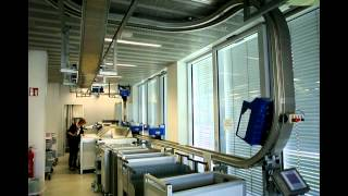 Telelift - single book transportion system in library, Stuttgart, Germany