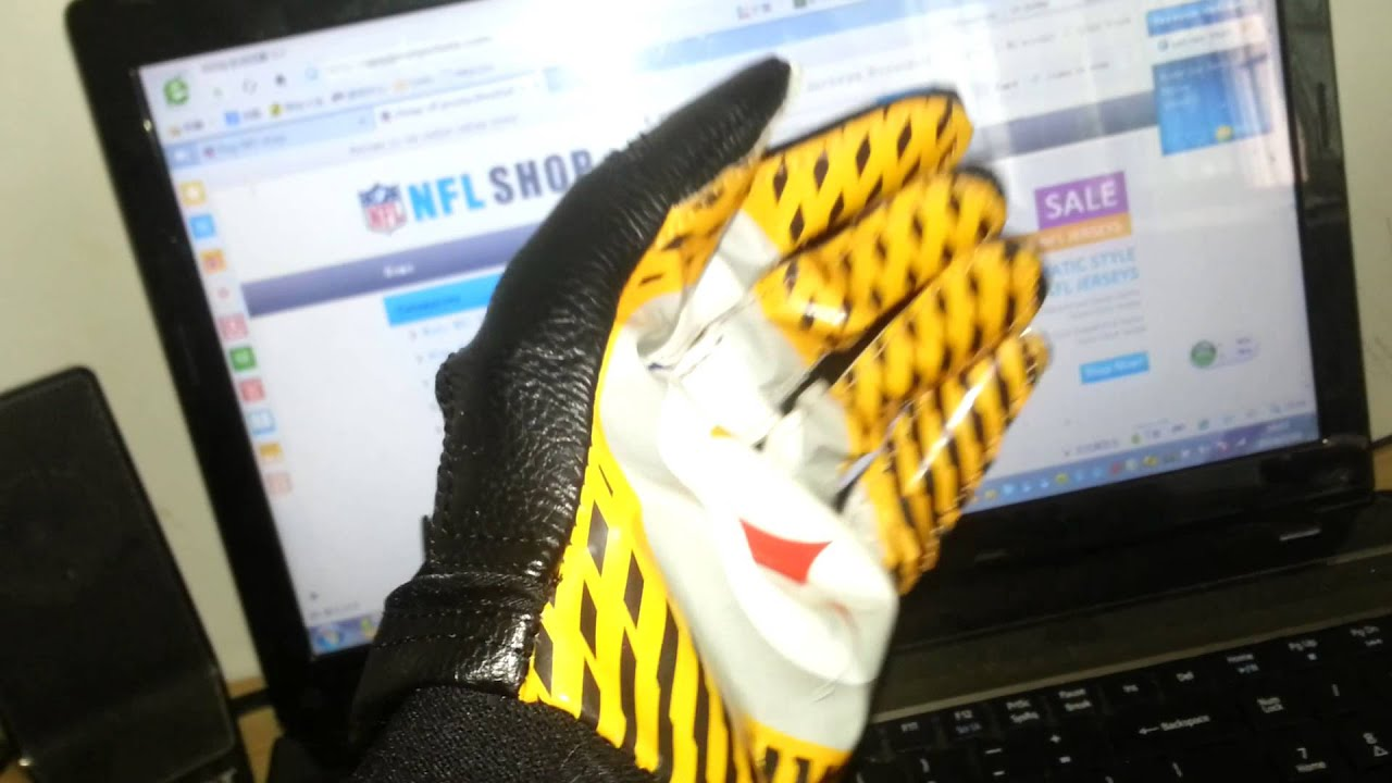 2014 NEW NIKE NFL GLOVES vapor jet 2.0 gloves cheap Pittsburgh ...