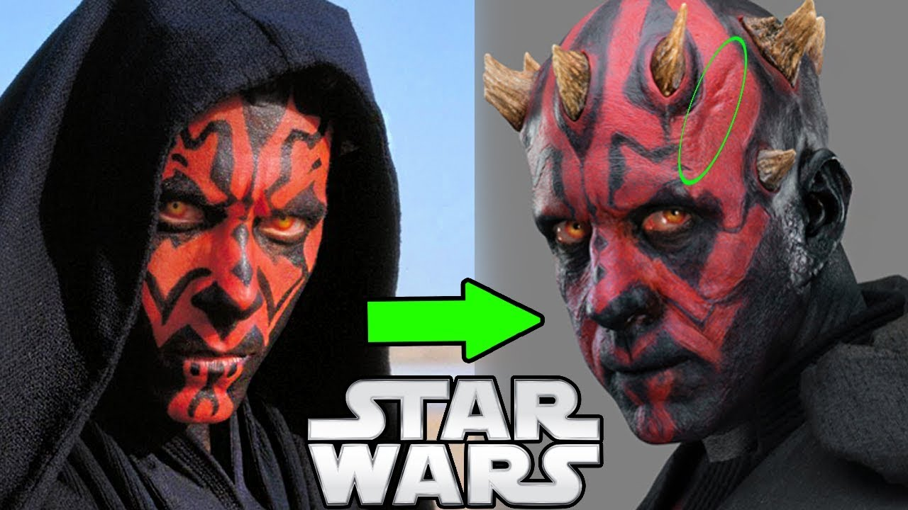 why darth maul s face looks so different in solo star wars