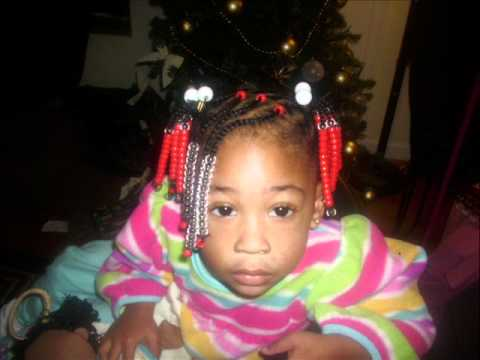 Natural Kids Hairstyle Beads Braids And Ponytails Youtube