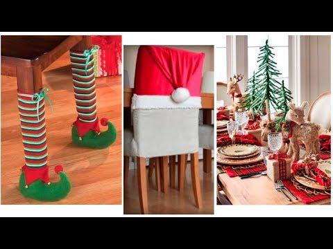 Ideas de Decoración de Navidad para Comedor- Sillas y Cocina. - YouTube