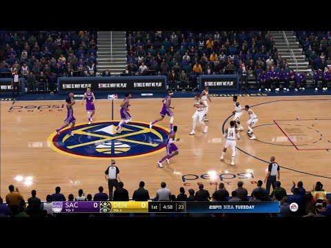NBA LIVE 19 New Patch 1.11 - Sacramento Kings vs Denver Nuggets - Full Game - PS4 PRO - HD