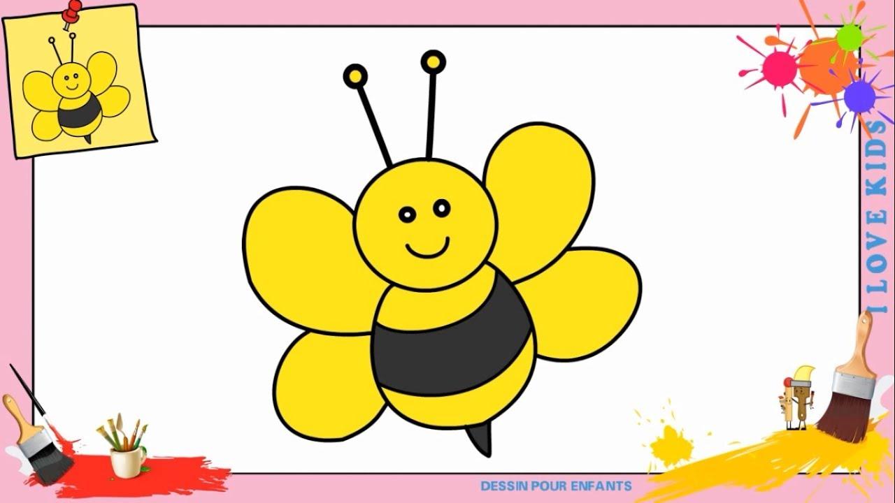 Dessin abeille facile comment dessiner une abeille - Comment dessiner une sorciere facilement ...